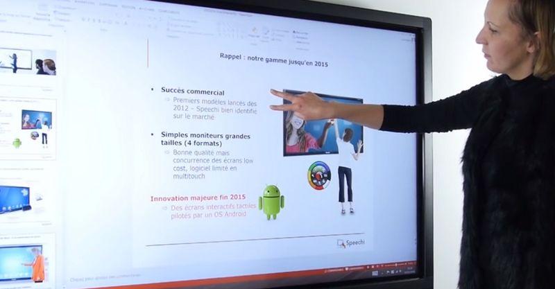 ecran interactif à l'école